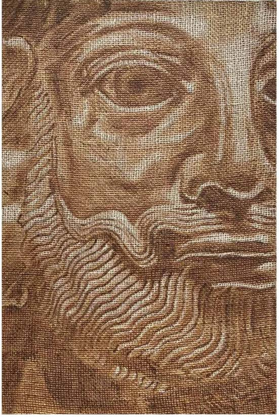 "Ashley Hicks - ""Sasanian Mask"" Jute Panel"