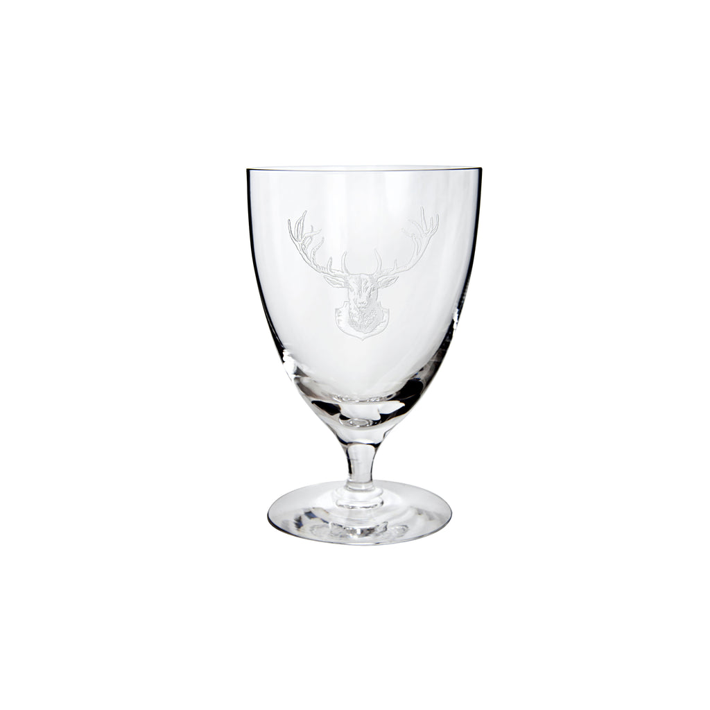 Staghead Water Glass