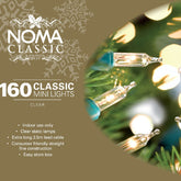 Noma Classic 116GC  Clear or Multi Colour 160  indoor set