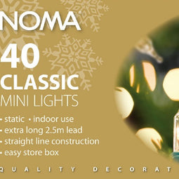 Noma Classic 418GC & 418GM 40 Light Set Clear or Multi Colour