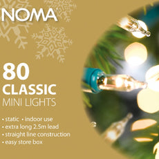 Noma Classic Clear or Multicolour 819GC or 819GM  80 Light  Sets