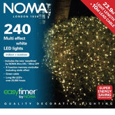 Noma 8724  Multi Effect  Warm White-White or Multi Colour 240  LED light sets