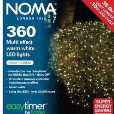 Noma 8736  Multi Effect Warm White - White - Multi Colour 360 LED light sets