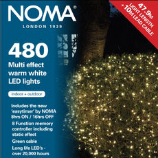 Noma 8748 Multi Effect Warm White or Multi Colour 480 LED light sets