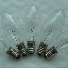 Noma L3 6 volt 2.4 watt E10 CLEAR spares for 40 light sets