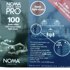 Noma PRO add-a-long static white 100 LED connectable chain