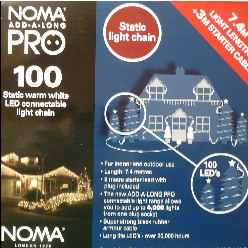 Noma PRO  add-a-long static warm  white  100 LED connectable chain