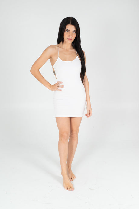 White Don't Look Back Dress - BAY BLING BEAUTY