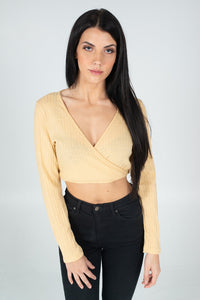 Beige Charlotte Crop Top - BAY BLING BEAUTY
