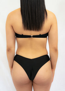 Black Catch A Vibe Bikini Bottom - BAY BLING BEAUTY