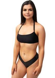 Black Catch A Vibe Bikini Top - BAY BLING BEAUTY