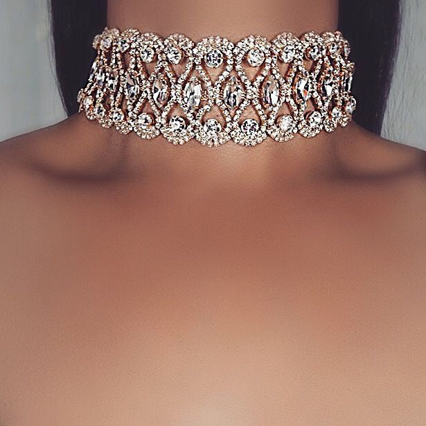 Diva Crystal Choker - BAY BLING BEAUTY