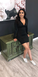 Black Hold On Tight Dress - BAY BLING BEAUTY