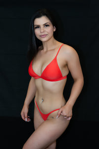 Red Can't Be Bothered Bikini Top - BAY BLING BEAUTY