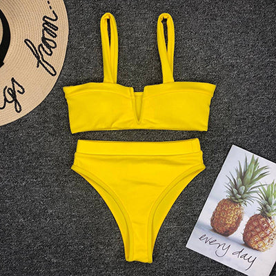 Yellow Sun Kissed Bikini Top - BAY BLING BEAUTY