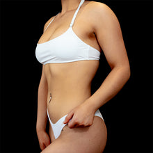 Load image into Gallery viewer, White Catch A Vibe Bikini Top - BAY BLING BEAUTY
