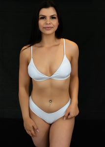White Can't Be Bothered Bikini Top - BAY BLING BEAUTY