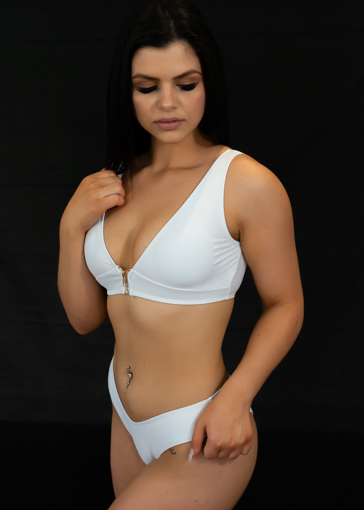 White Curve Them Bikini Top - BAY BLING BEAUTY