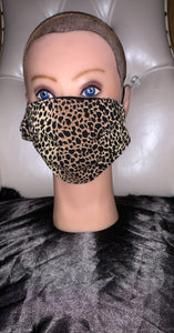 Cheetah Print Fashion Mask