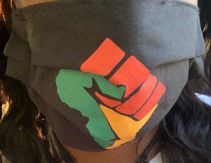 Africa Fist Fashion Mask