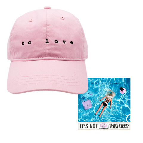 No Love Pink Dad Hat + Digital EP