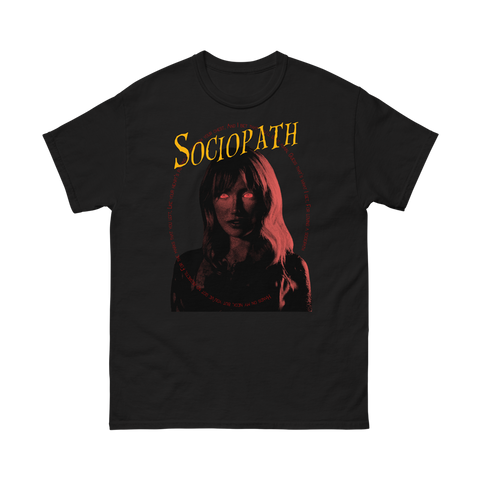 Sociopath Black Movie T-Shirt