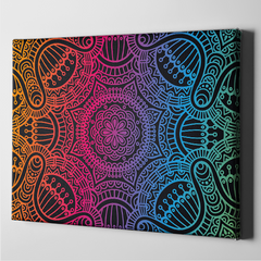 Multi-Color Abstract Canvas Art