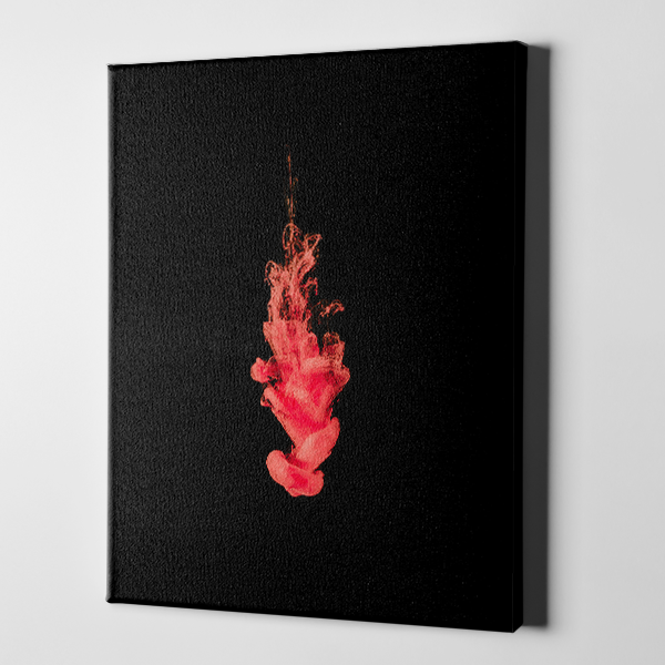 Fiery Rose Canvas
