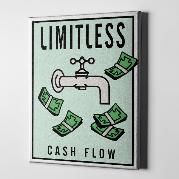 Limitless Cash Flow Monopoly Canvas