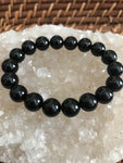 black tourmaline crystal stretch bracelet