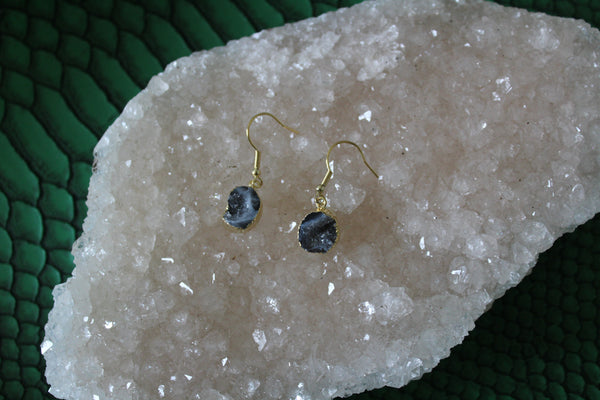 geode druzy earrings