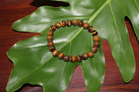 tiger's eye crystal stretch bracelet