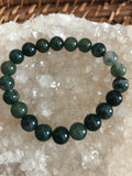 Moss Agate Crystal Stretch Bracelet