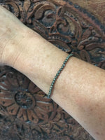 pyrite crystal stretch bracelet