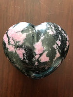 rhodonite crystal heart