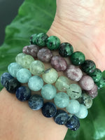 ruby zoisite crystal stretch bracelet