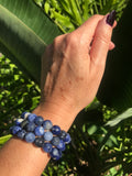 sodalite crystal stretch bracelet