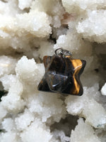 tiger's eye merkaba pendant