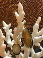 Brown and Tan Agate Earrings