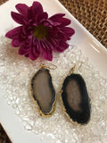 Brown agate earrings