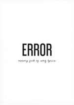 Error – Memory Full of Song Lyrics -tekstijuliste