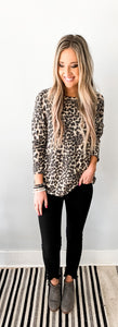 Printed Round Neck Tunic Top