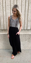 Black Cheetah Maxi Dress