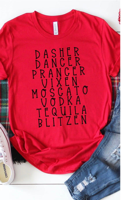 Dasher Dancer Tee- 2 Colors