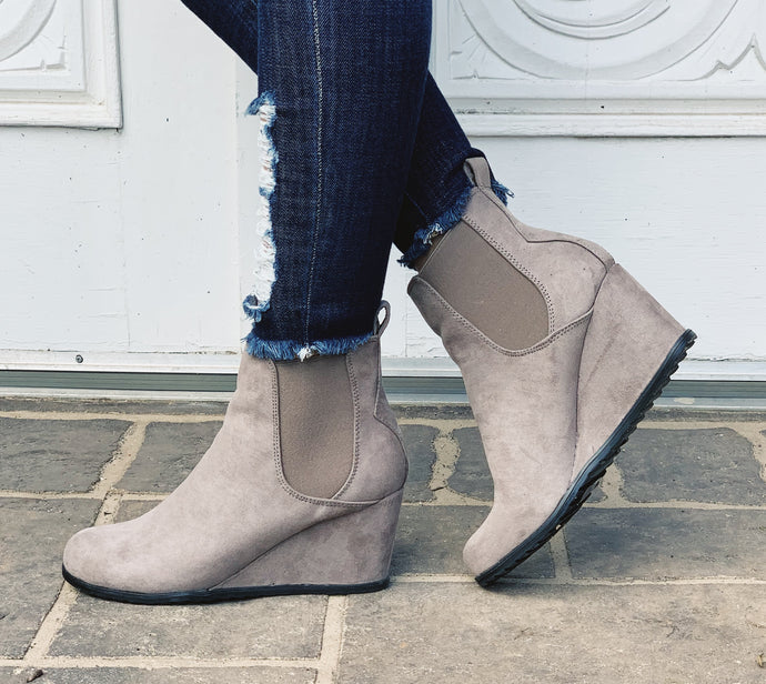 Sorel Look Alike Wedge Booties