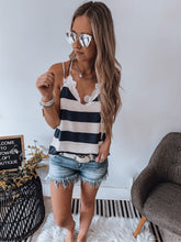 Navy/ White Stripe Tank