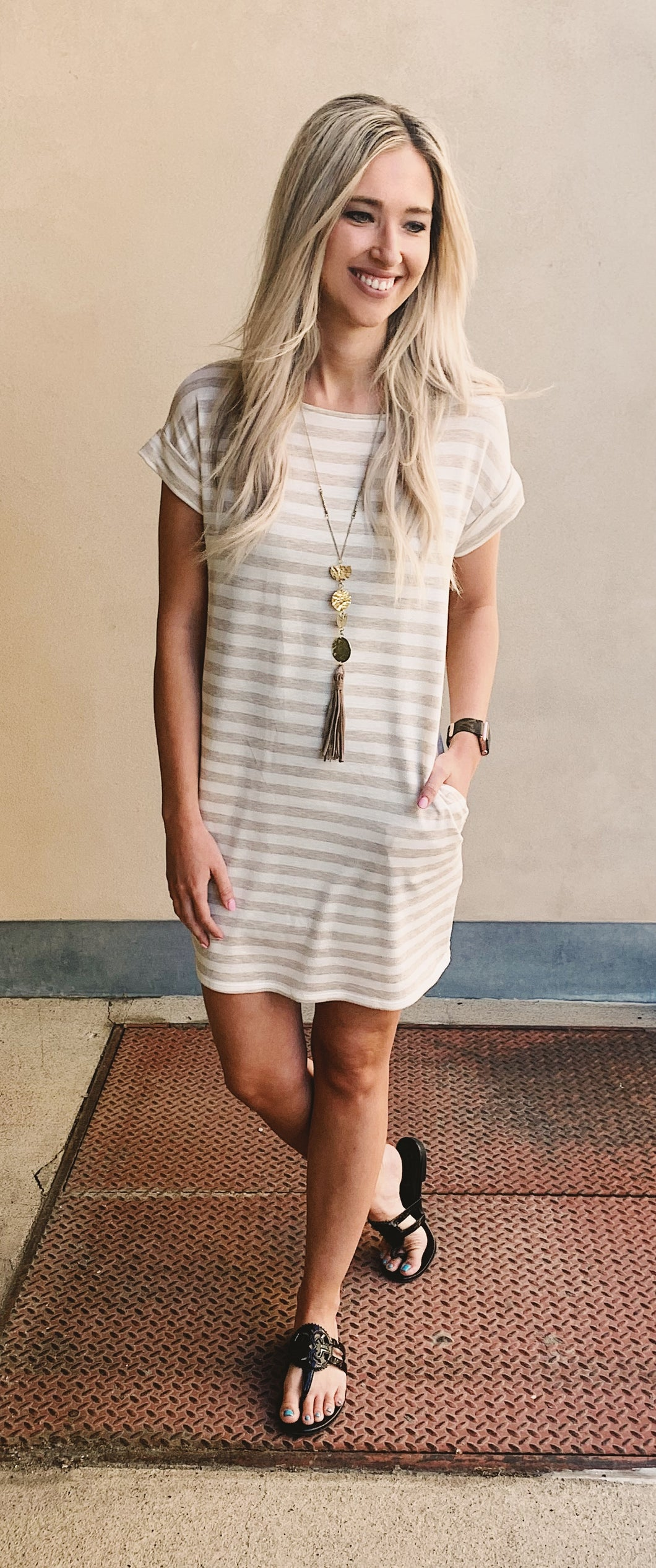 Coco Stripe Tunic Dress