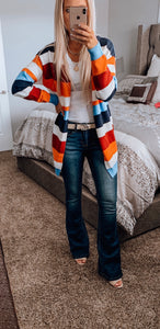 Multi Color Pocket Cardigan
