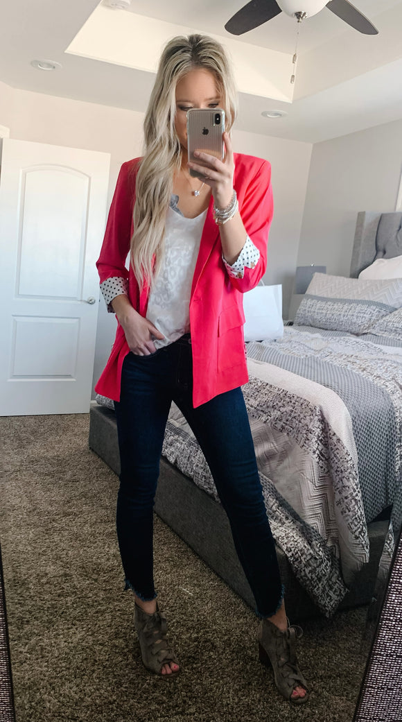 Fashionista Hot Pink Blazer
