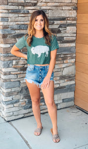Buffalo Crop Top- 2 colors